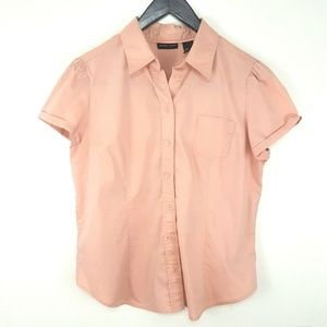 New York & Company Short Sleeve Button Down Top